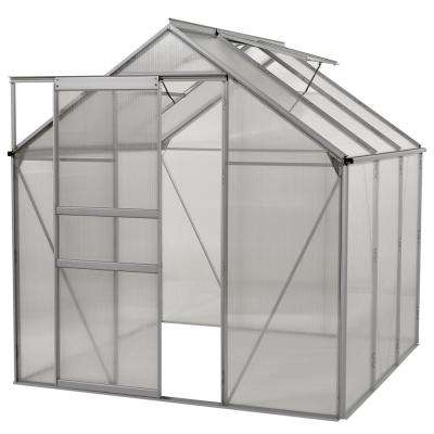6 ft. x 6 ft. Aluminium Greenhouse - Walk-In With Sliding Door And Double Roof Vent