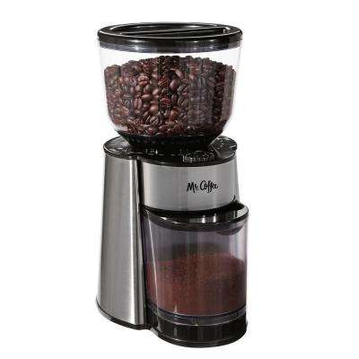 8 oz. Burr Mill Stainless Steel Coffee Grinder