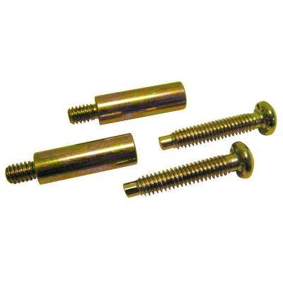 Entry Knob or Lever Thick Door Extension Kit in Polished Brass