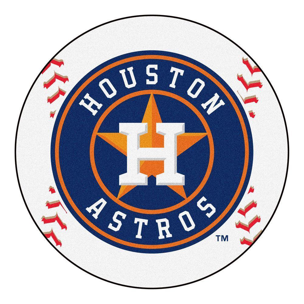 MLB Houston Astros White 2 Ft. 3 In. X 2 Ft. 3 In