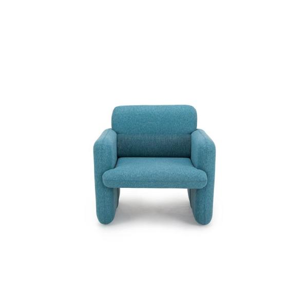 CozyBlock Ross Series Blue Woven Fabric Upholstered Modern Accent Single Seat