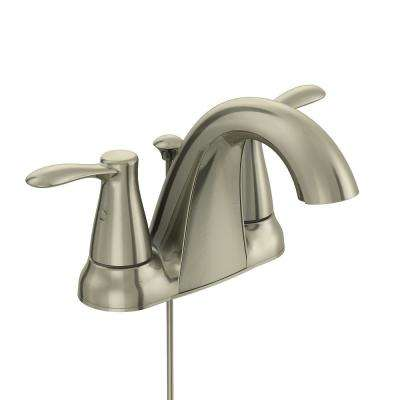 Gable 4 in. Centerset 2-Handle Mid-Arc Bathroom Faucet in Brushed Nickel