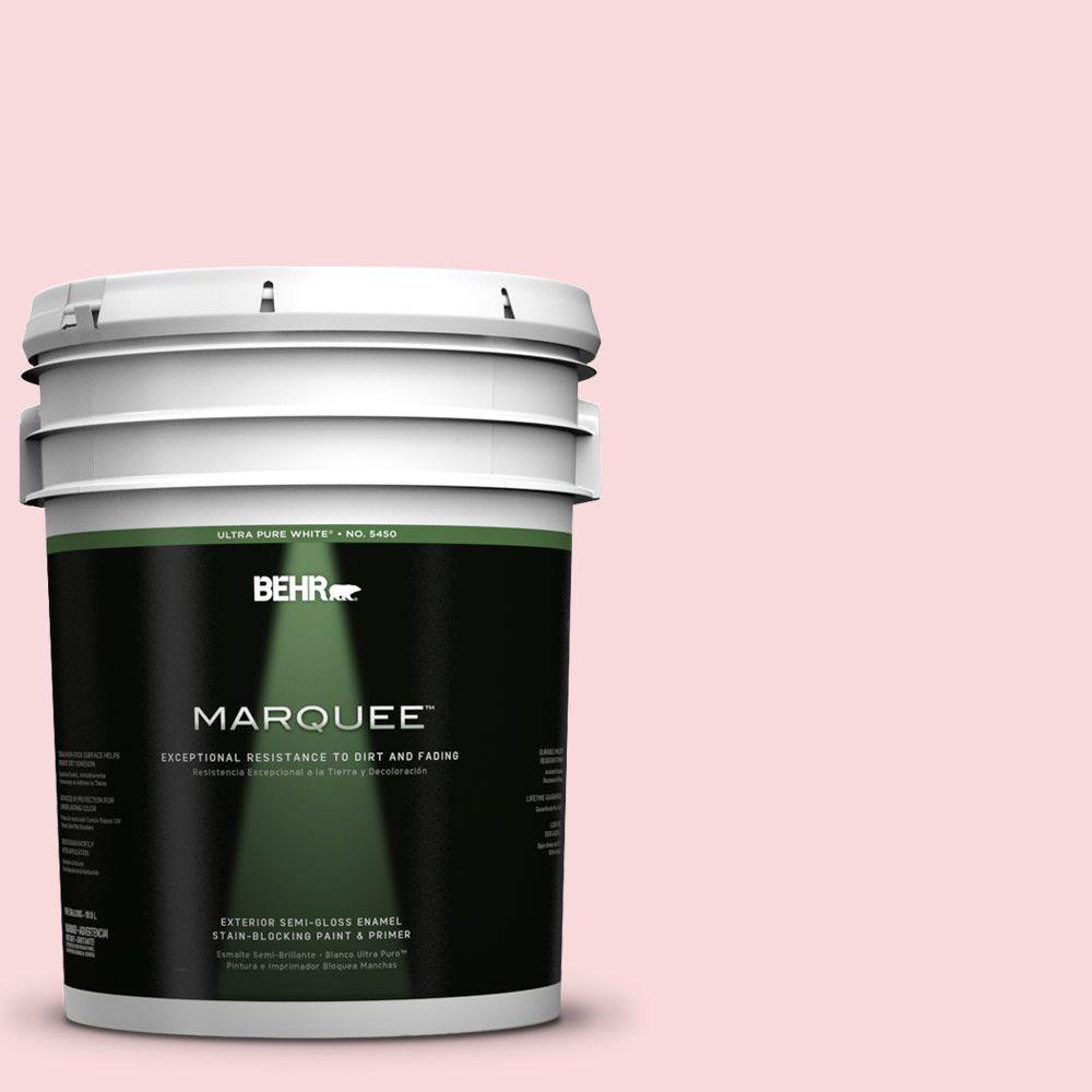 5-gal. #130C-1 Powdered Blush Semi-Gloss Enamel Exterior Paint