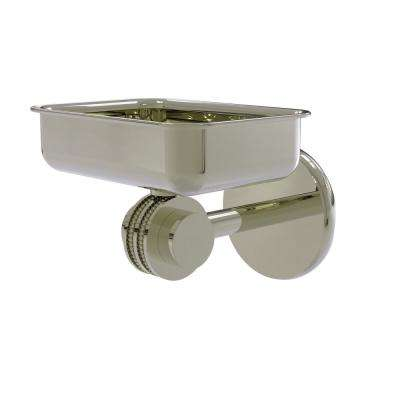 Satellite Orbit 2-Collection Wall Mounted Soap Dish with Dotted Accents in Polished Nickel