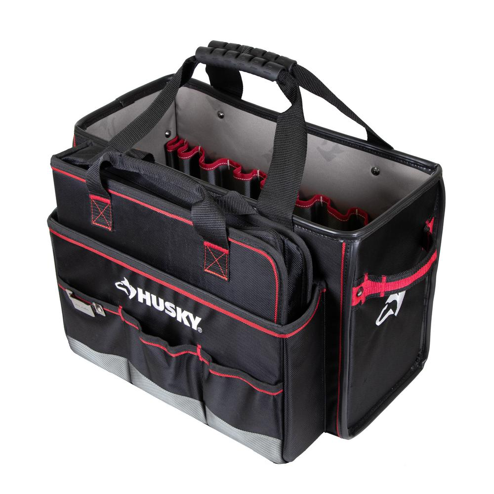 Husky 19 in. Pro Hybrid Tote with Tool Organizer