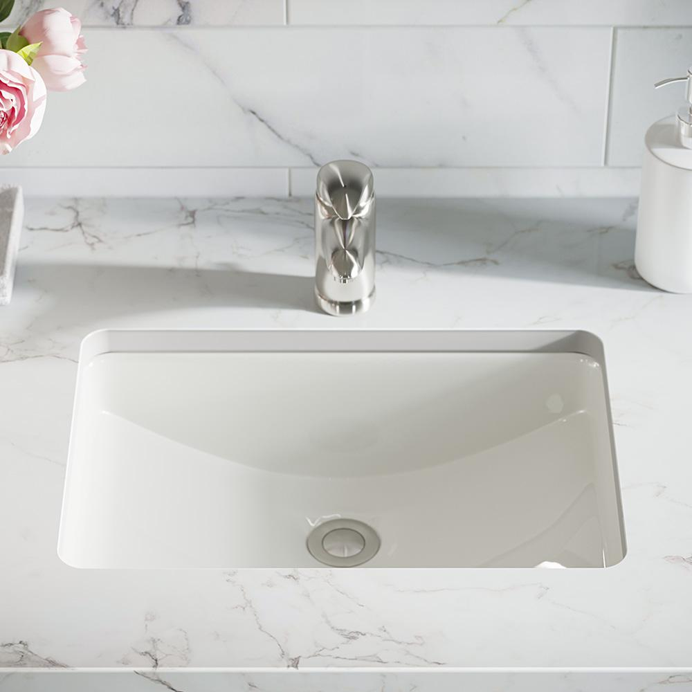 MR Direct 20 3/4 in. Undermount Bathroom Sink in Bisque with Gray