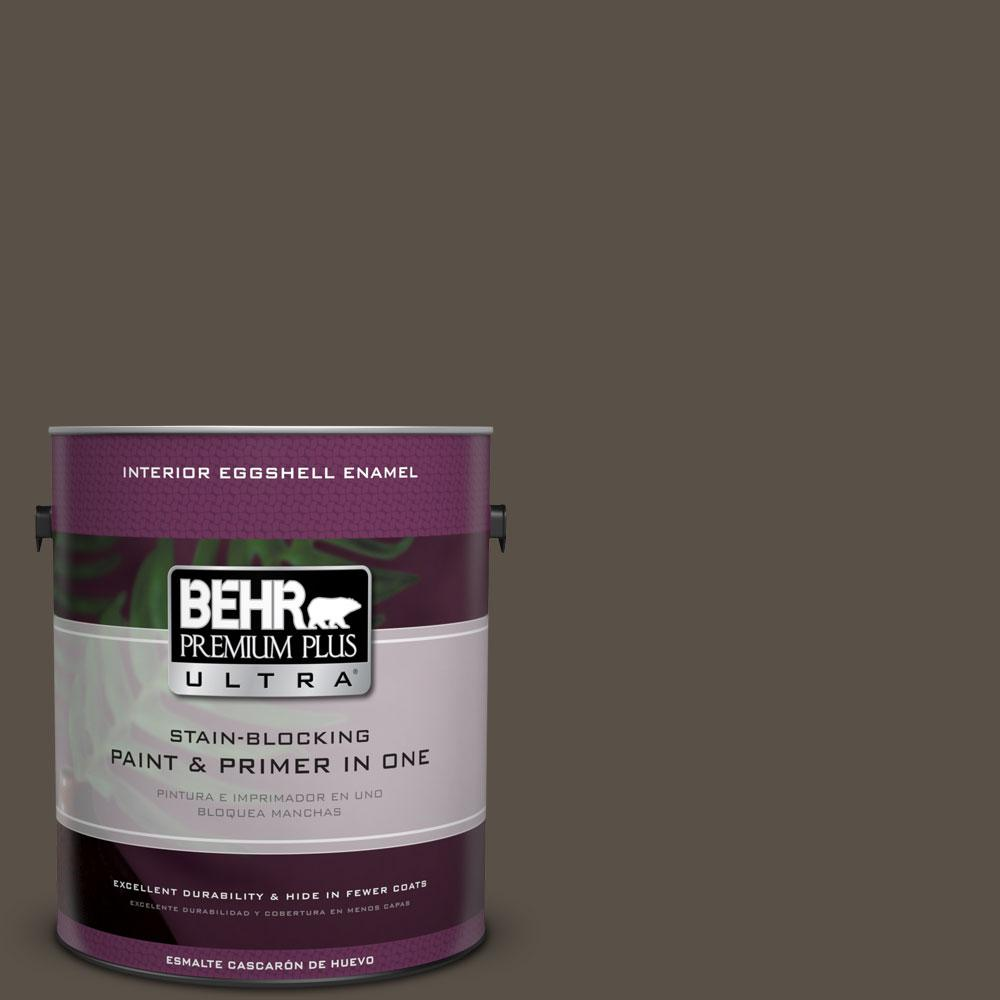 1-gal. #N360-7 Potting Soil Eggshell Enamel Interior Paint