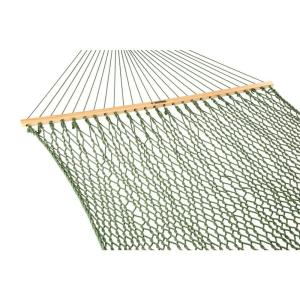 Pawleys Island 13 ft. Large Duracord Rope Hammock Meadow Green by Pawleys Island