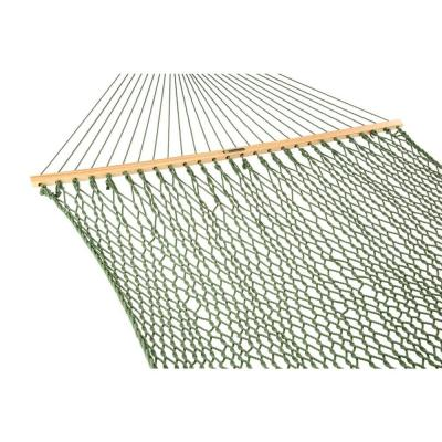 13 ft. Large Duracord Rope Hammock Meadow Green