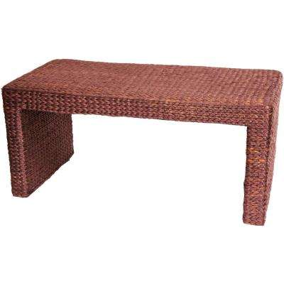 Oriental Furniture Reddish Brown Coffee Table