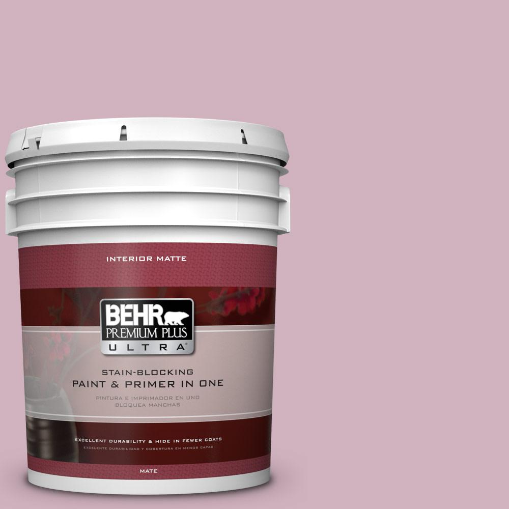 BEHR Premium Plus Ultra 5 gal. #S120-3 Candlelight Dinner Matte Interior Paint