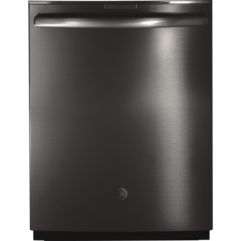 GE Profile Top Control Dishwasher in Black Stainless Steel with Stainless Steel Tub, Fingerprint Resistant, 42 dBA