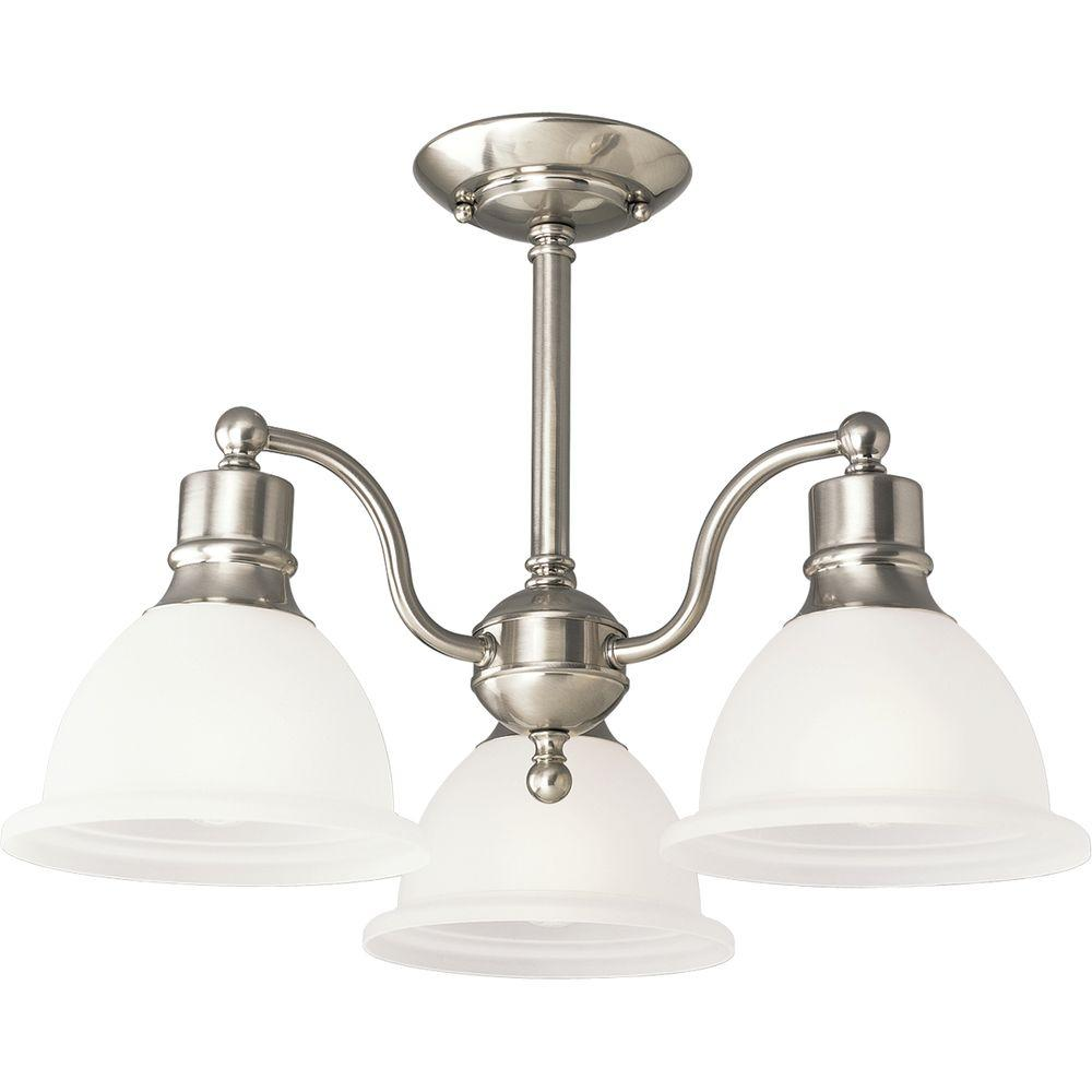 Progress Lighting Madison Collection 20.75 in. 3-Light Brushed ...
