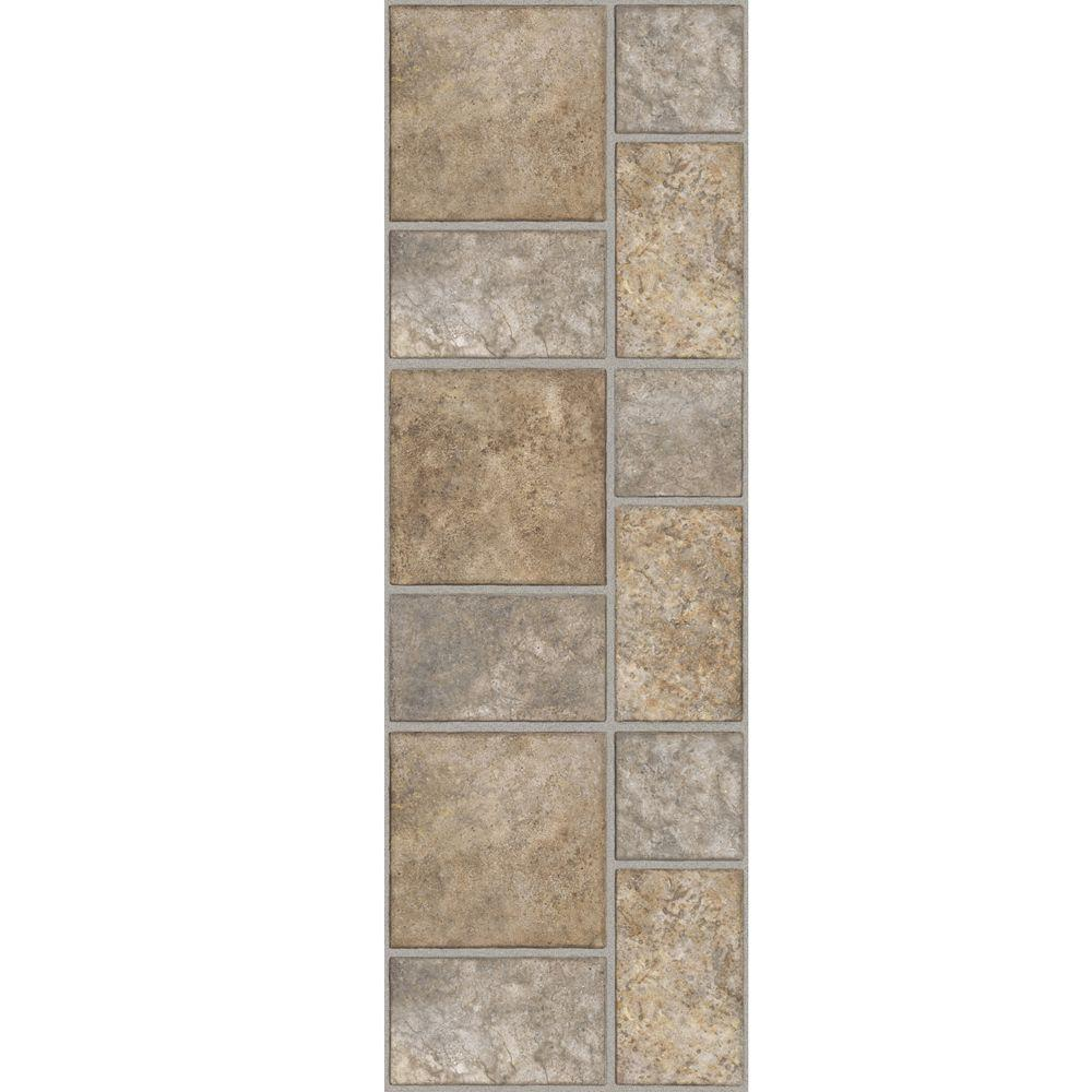 TrafficMASTER Allure 12 in. x 36 in. Yukon Tan Luxury Vinyl Tile Flooring (24 sq. ft. / case)