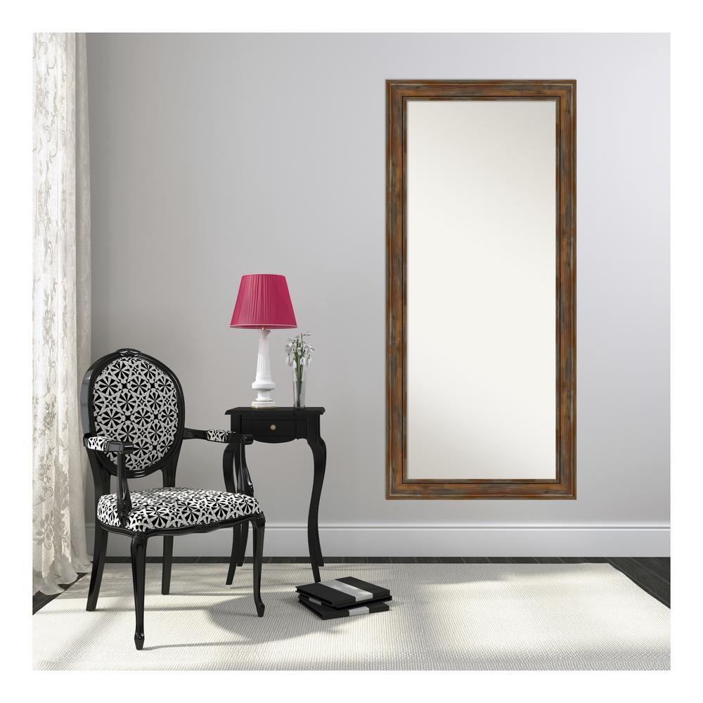Alexandria Rustic Brown Floor/Leaner Mirror