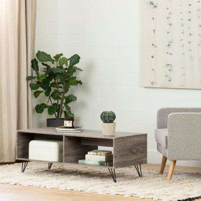 Evane Oak Camel Coffee and End Table