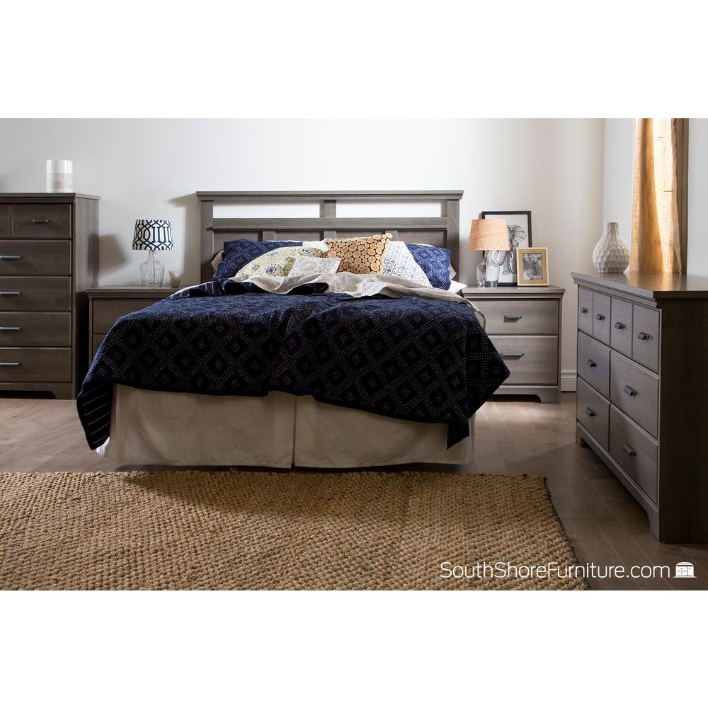 Great South Shore Versa 2 Drawer Gray Maple Nightstand