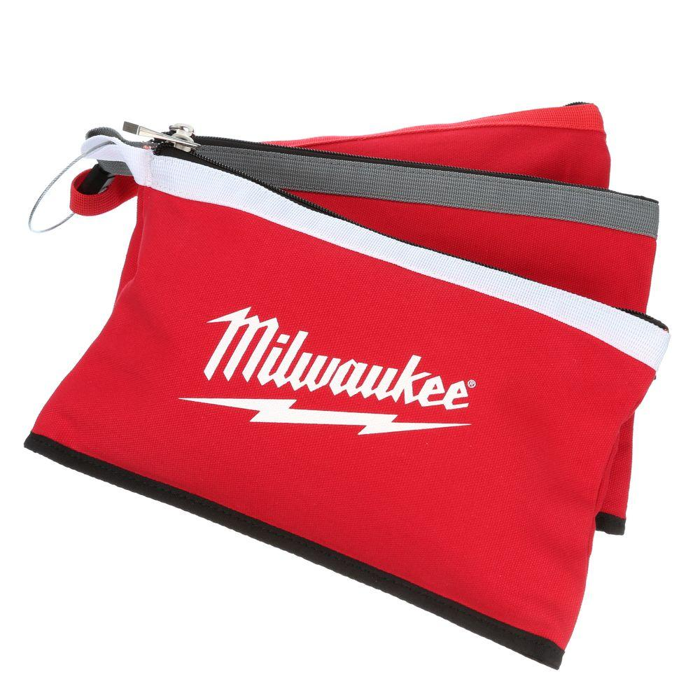 Milwaukee 12 in. Zipper Tool Bag in Multi-Color (3-Pack),...