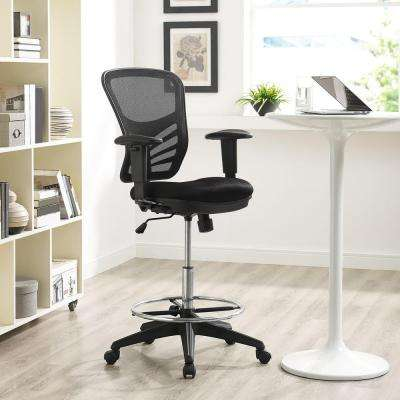Articulate Drafting Stool in Black