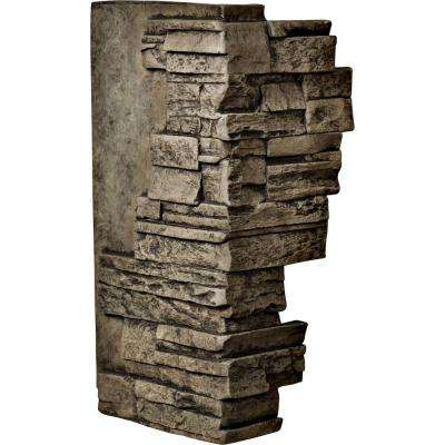 1-1/2 in. x 12 in. x 25 in. Grey Urethane Dry Stack Stone Outer Corner Wall Panel
