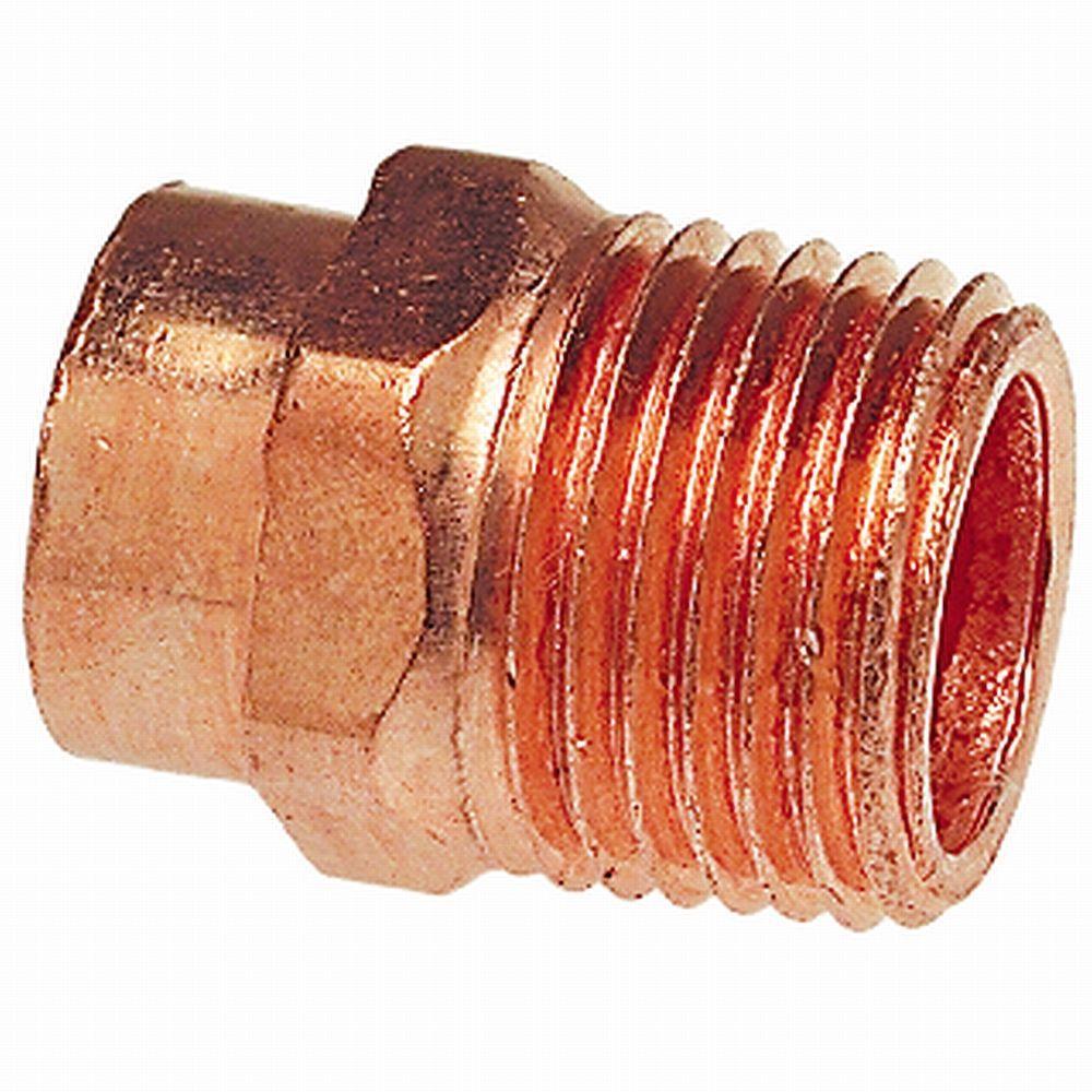 1 in. Copper Pressure Cup x MIPT Male Adapter