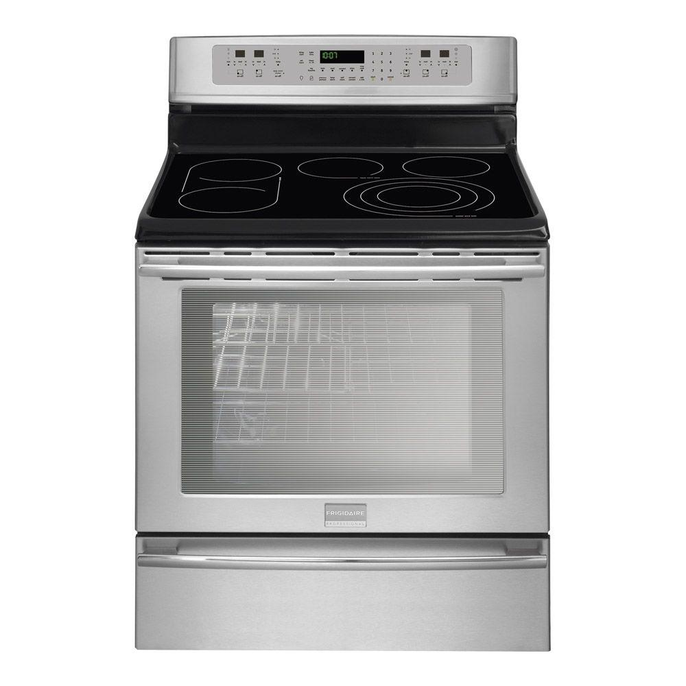 Frigidaire Professional 30 in. 6.0 cu. ft. Electric Range with Self-Cleaning Convection Oven in Stainless Steel