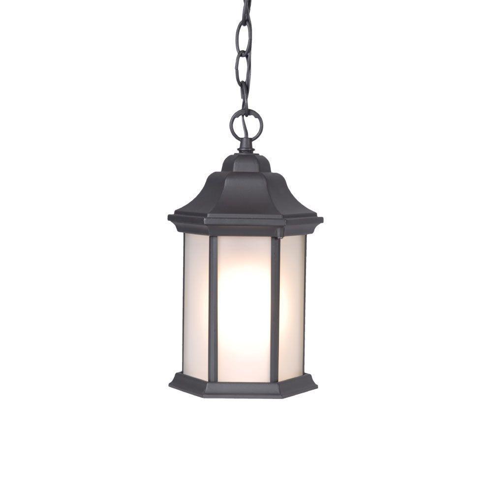 Acclaim Lighting Madison Collection Hanging Outdoor 1-Light Matte Black Lantern