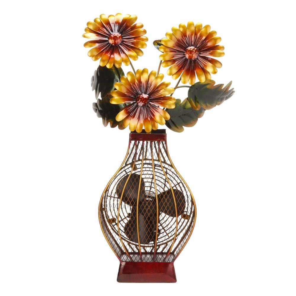 Deco Breeze 7 in. Figurine Fan-Flower Vase