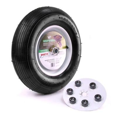 480/400-8 16 in. Wheelbarrow/Garden Cart Wheel with Hub 3/4 in. Ball Bearing