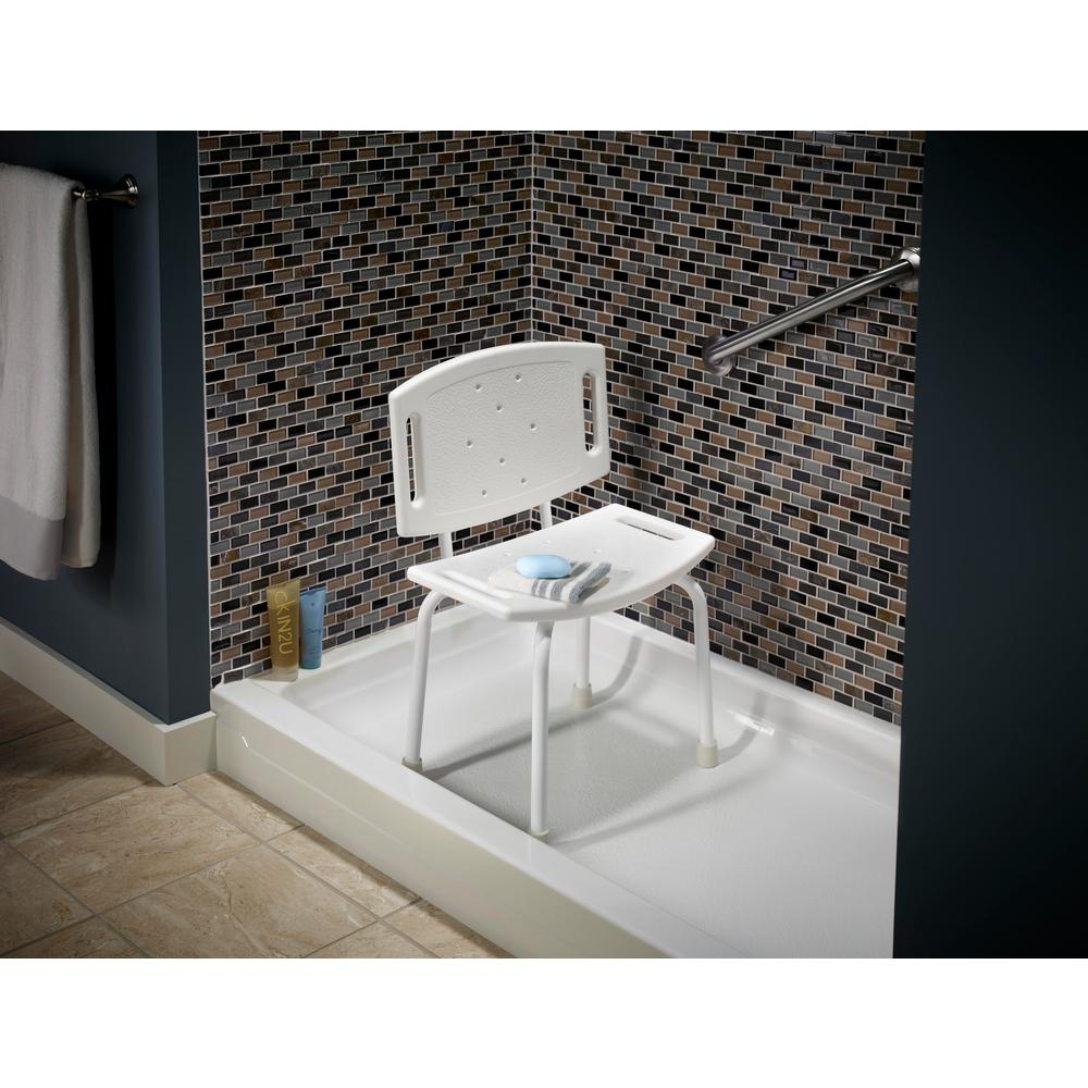 Incredible Delta 15 1 2 In X 4 1 2 In Bathtub And Shower Safety Chair In White Caraccident5 Cool Chair Designs And Ideas Caraccident5Info