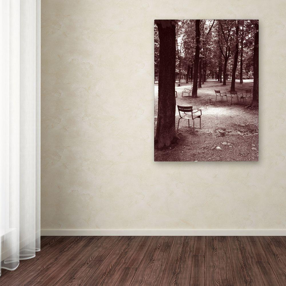 19 in. x 14 in. Jardin Du Luxembourg Chairs Canvas Art