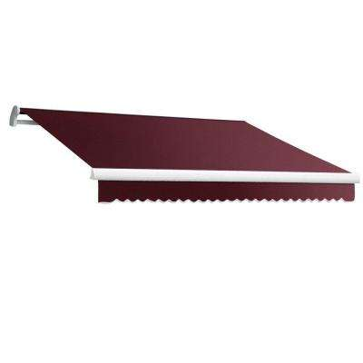 12 ft. MAUI EX Model Left Motor Retractable Awning (120 in. Projection) in Burgundy