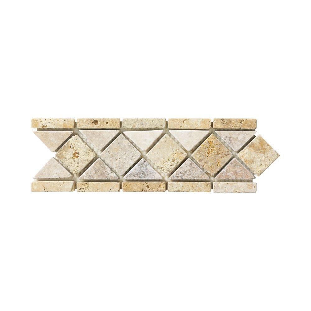 Jeffrey court venezia 3 in x 12 in travertine floor wall for Decorative accents