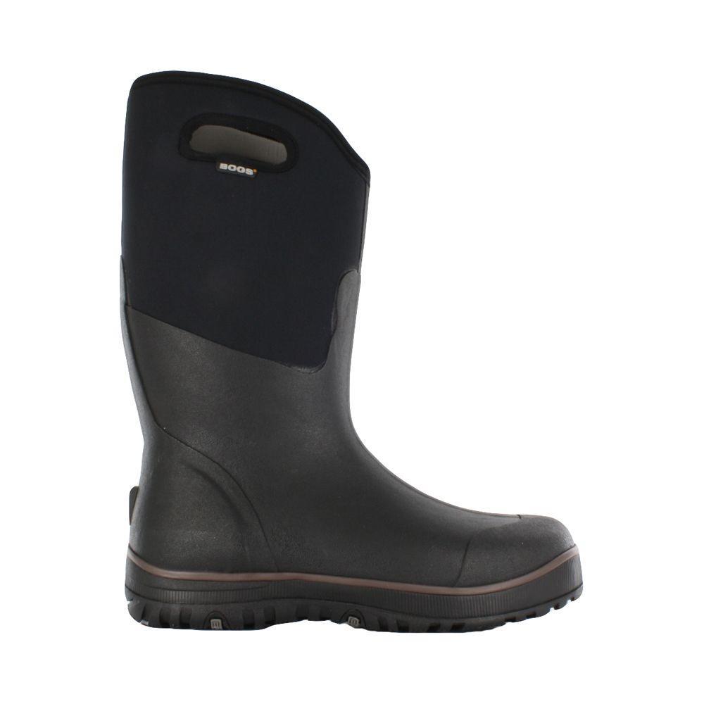 BOGS Classic Ultra High Men 15 in. Size 12 Black Rubber with Neoprene Waterproof Boot