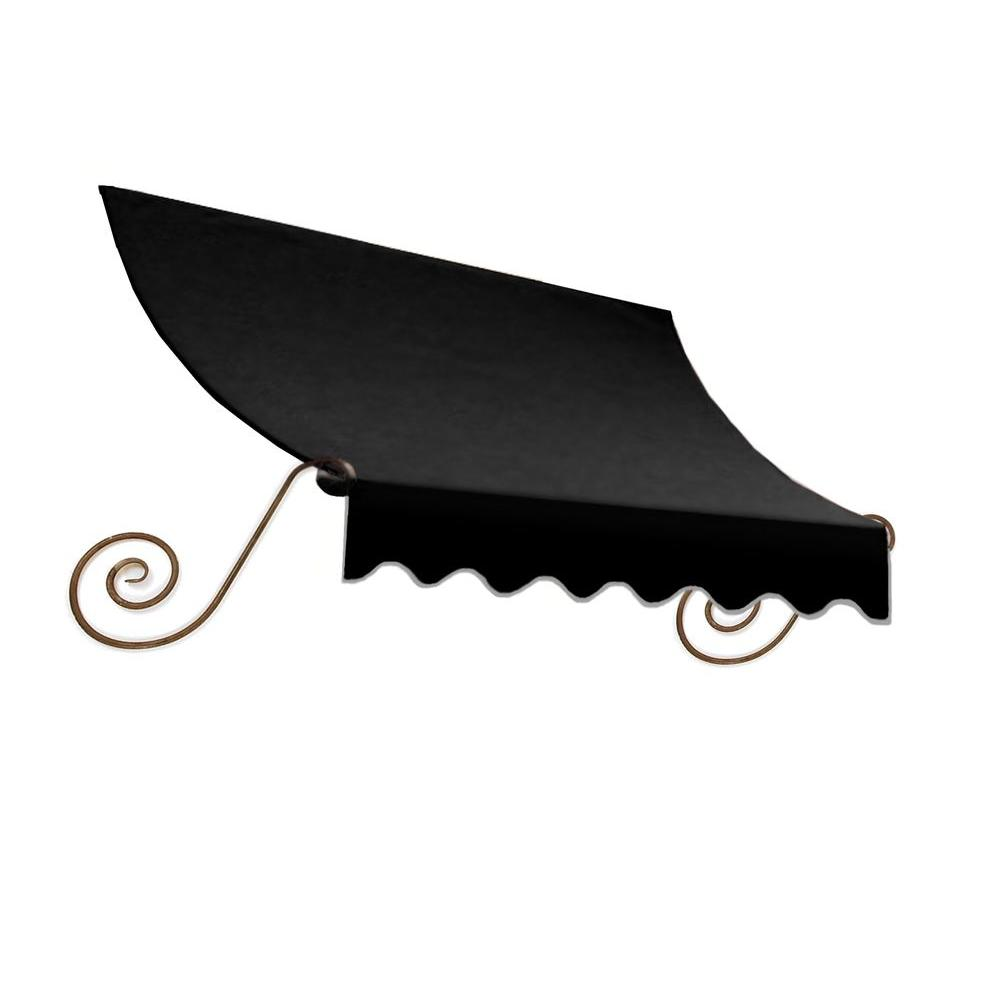 AWNTECH 5 ft. Charleston Window Awning (56 in. H x 36 in. D) in Black