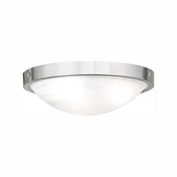 19-Watt Brushed Nickel Integrated LED Flush Mount