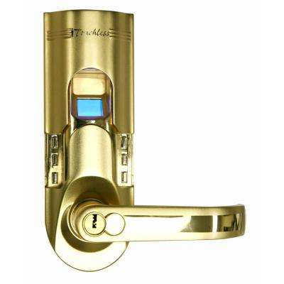 Bio-Matic Fingerprint Gold Right Handle Door Lock