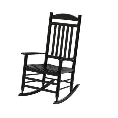 Black Wood Outdoor Patio Rocking Chair