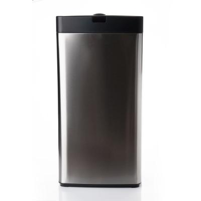 13 Gal. Stainless Steel Rectangle Sensor Trash Can