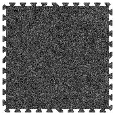 Dark Grey 24 in. x 24 in. Comfortable Carpet Mat (100 sq. ft. / Case)