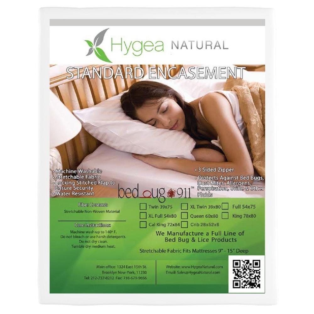 Bed Bug 911 Hygea Natural Bed Bug Mattress Cover or Box Spring Cover : Non-woven : Water Resistant Encasement - King