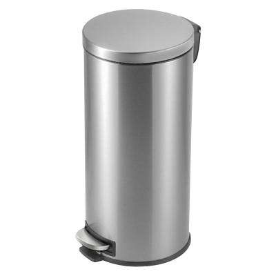 8 Gal. Stainless Steel Round Step On Trashcan