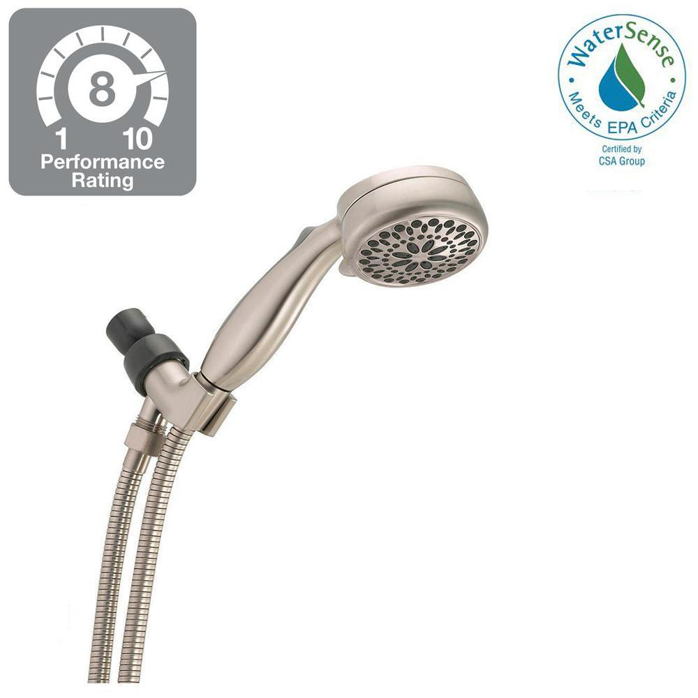 Delta 7-Spray Handheld Hand Shower in Brushed Nickel-75701SN - The ...