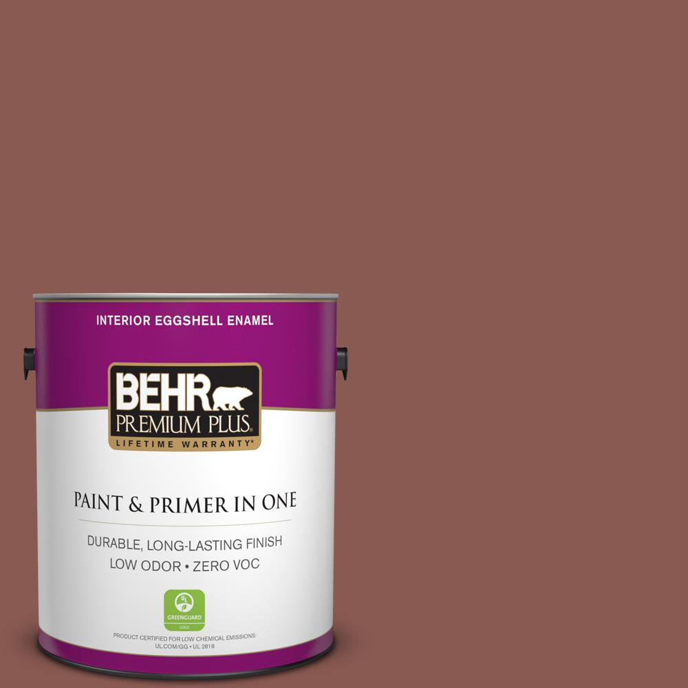 1 gal. #MQ1-20 Rust Eggshell Enamel Zero VOC Interior Paint and