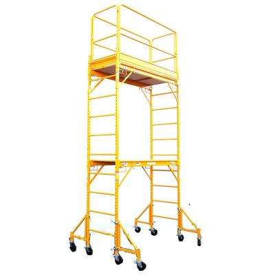 12 ft. x 6 ft. x 29 in. Rolling Drywall Scaffold Unit 1000 lb. Load Capacity