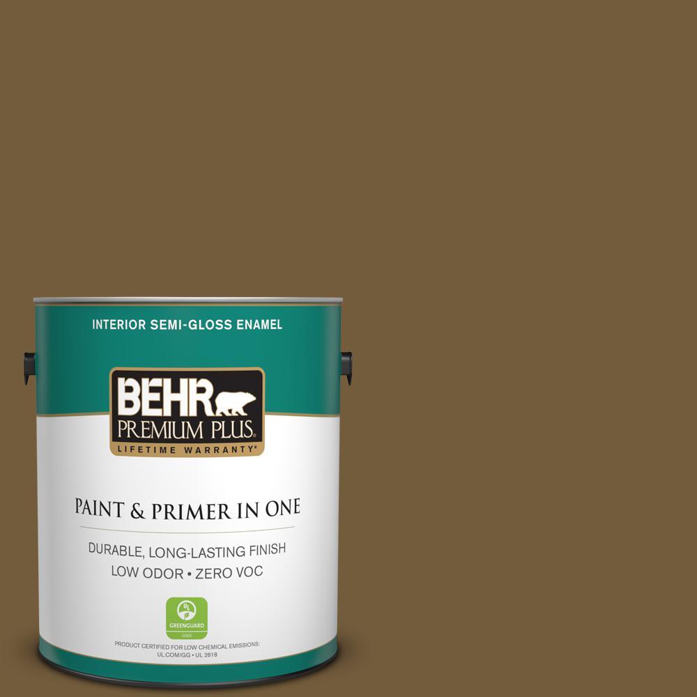 BEHR Premium Plus 1-gal. #300F-7 Centaur Zero VOC Semi-Gloss Enamel Interior Paint