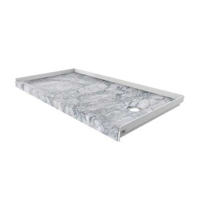 32 in. x 60 in. Single Threshold Shower Base with Right Hand Drain in Everest