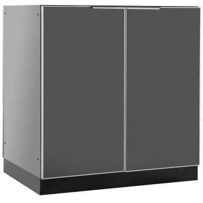 Aluminum Slate 32 in. 2 Door Base 32x35x24 in. Outdoor Kitchen Cabinet