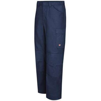 Men's 40 in. x 32 in. Navy Shop Pant
