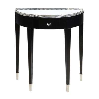 Black Tie Chrome and Black Hall Table